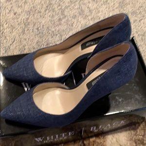 Denim look Dorsey heels